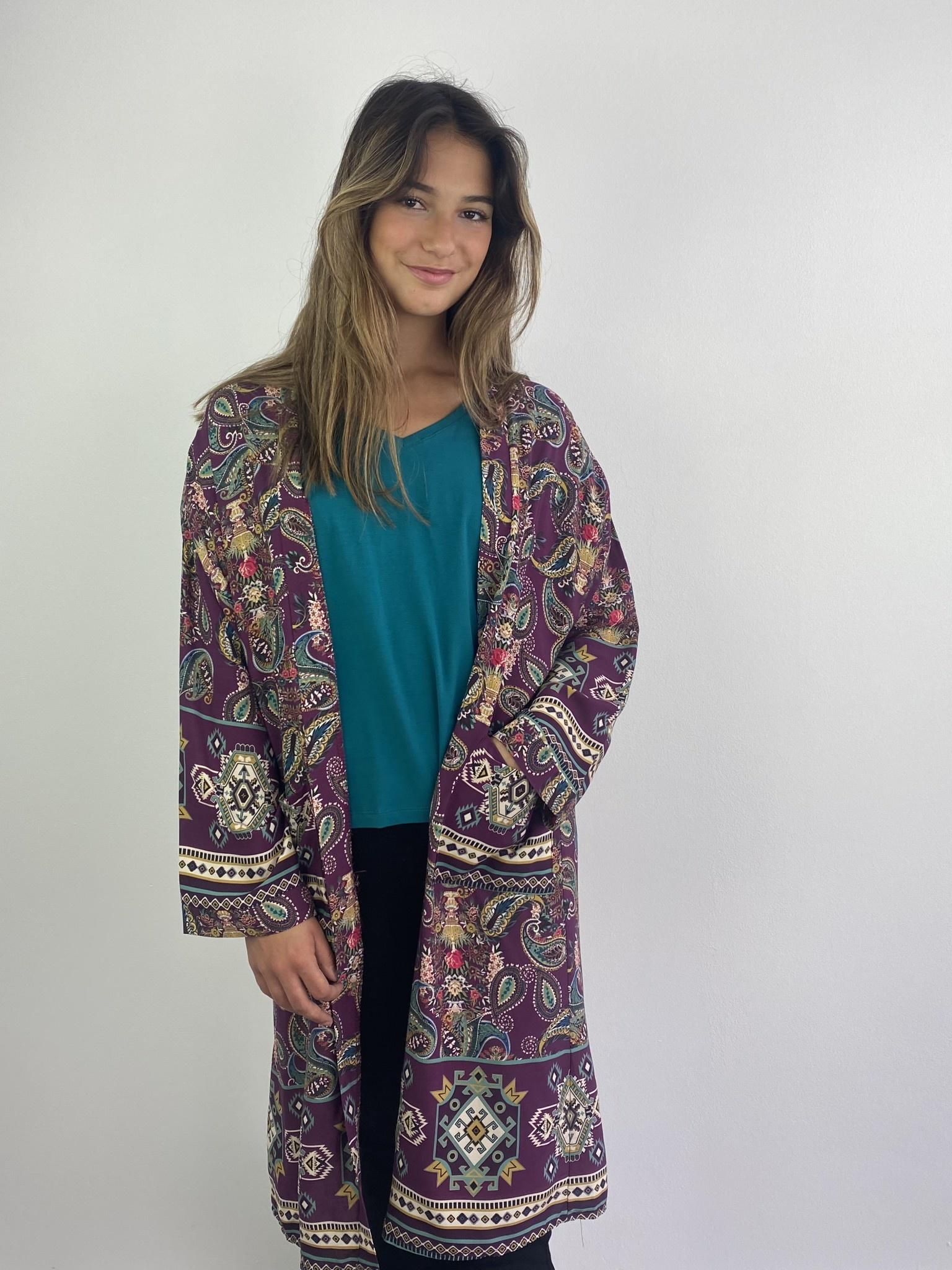 Napua kimono Violet-1