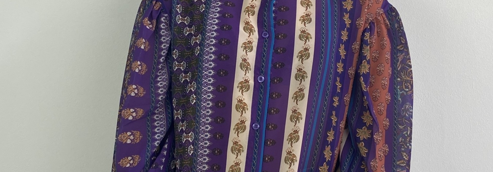 Faith ballonsleeve blouse Fleuri Violet