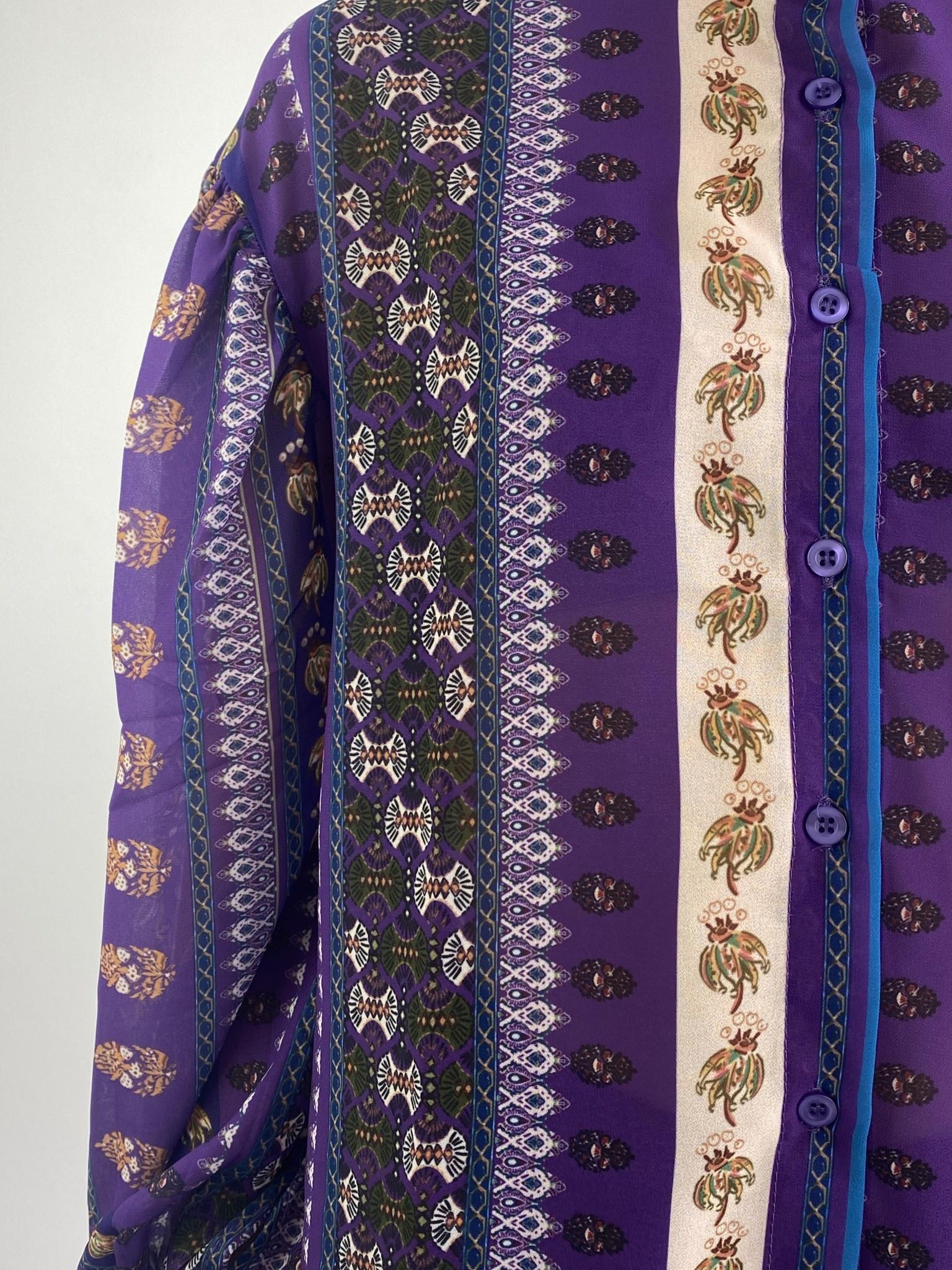 Faith ballonsleeve blouse Fleuri Violet-5