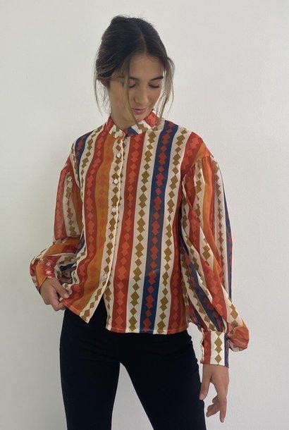 Faith ballonsleeve blouse Harlequin Orange