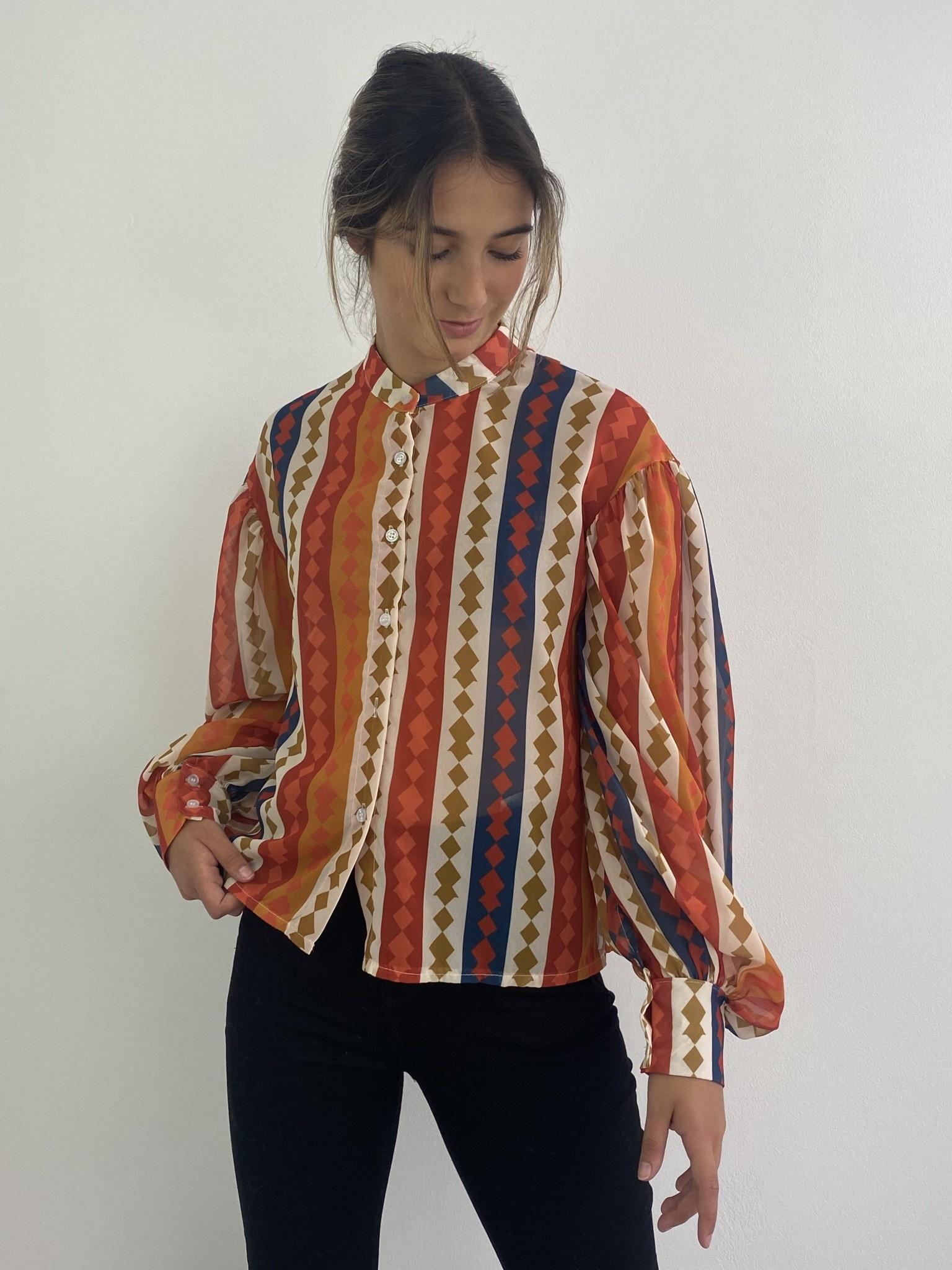 Faith ballonsleeve blouse Harlequin Orange-1