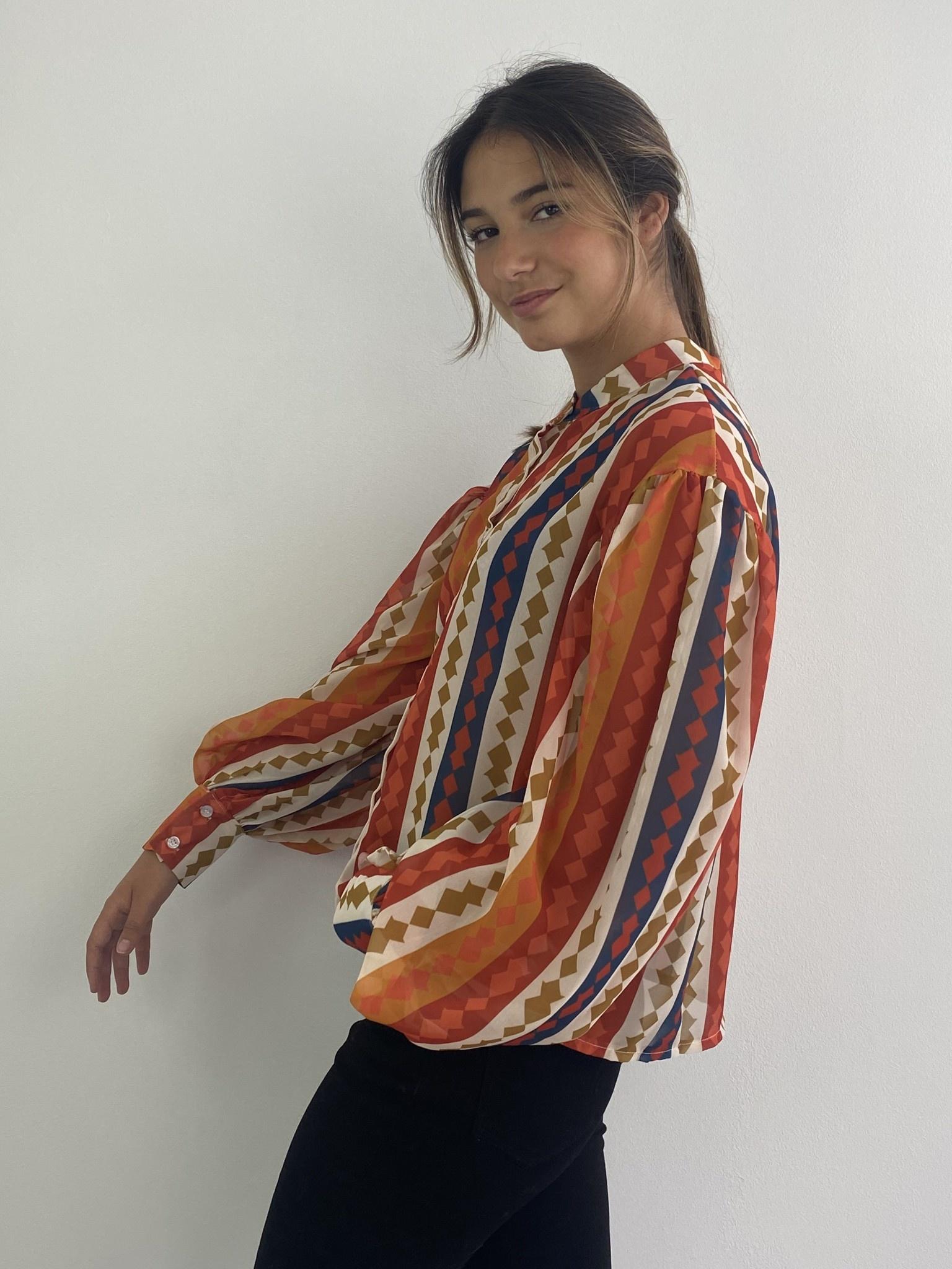 Faith ballonsleeve blouse Harlequin Orange-2