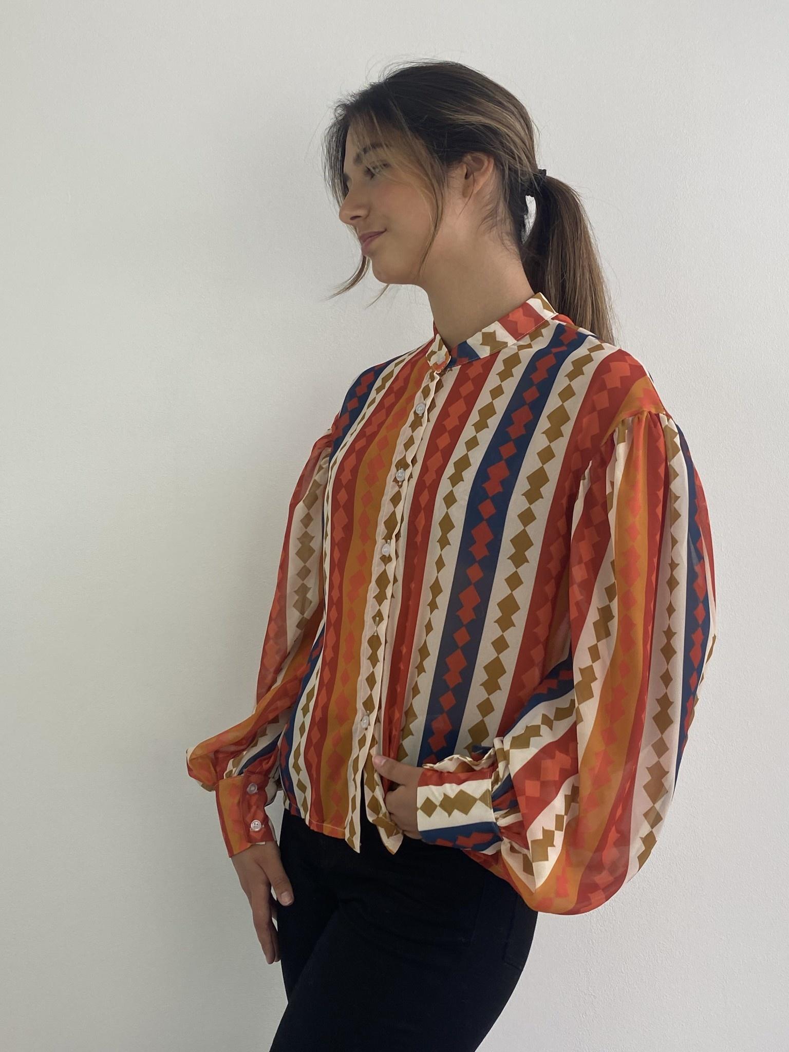 Faith ballonsleeve blouse Harlequin Orange-3