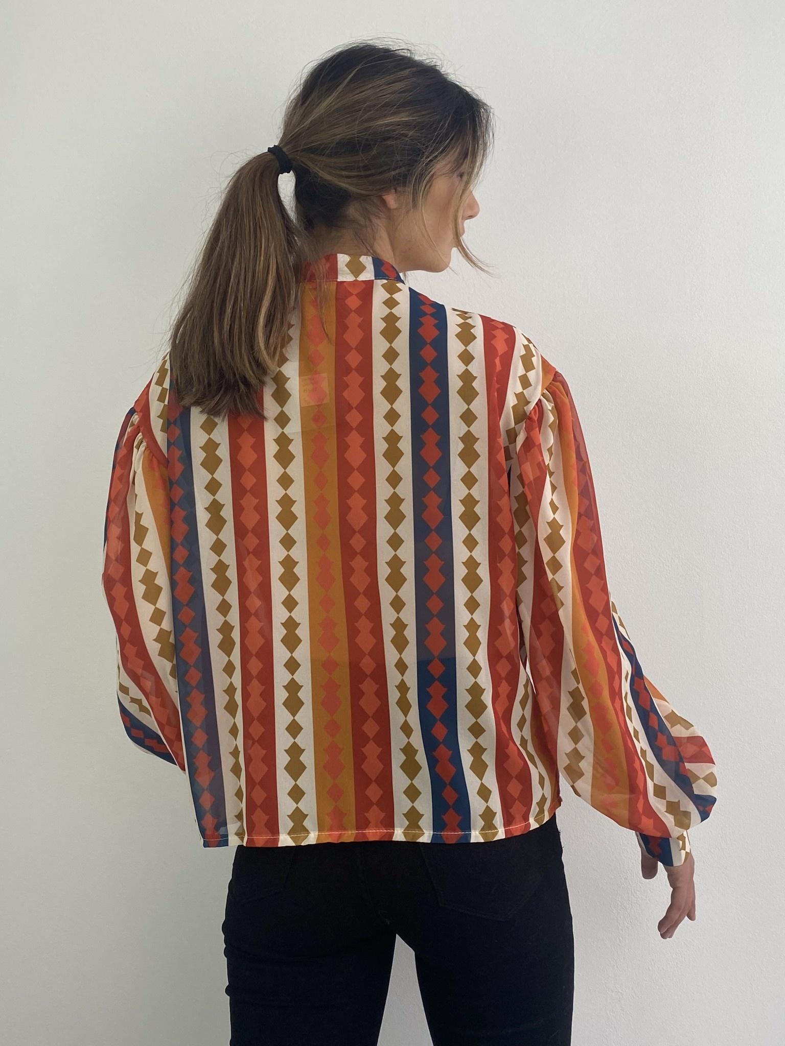 Faith ballonsleeve blouse Harlequin Orange-4