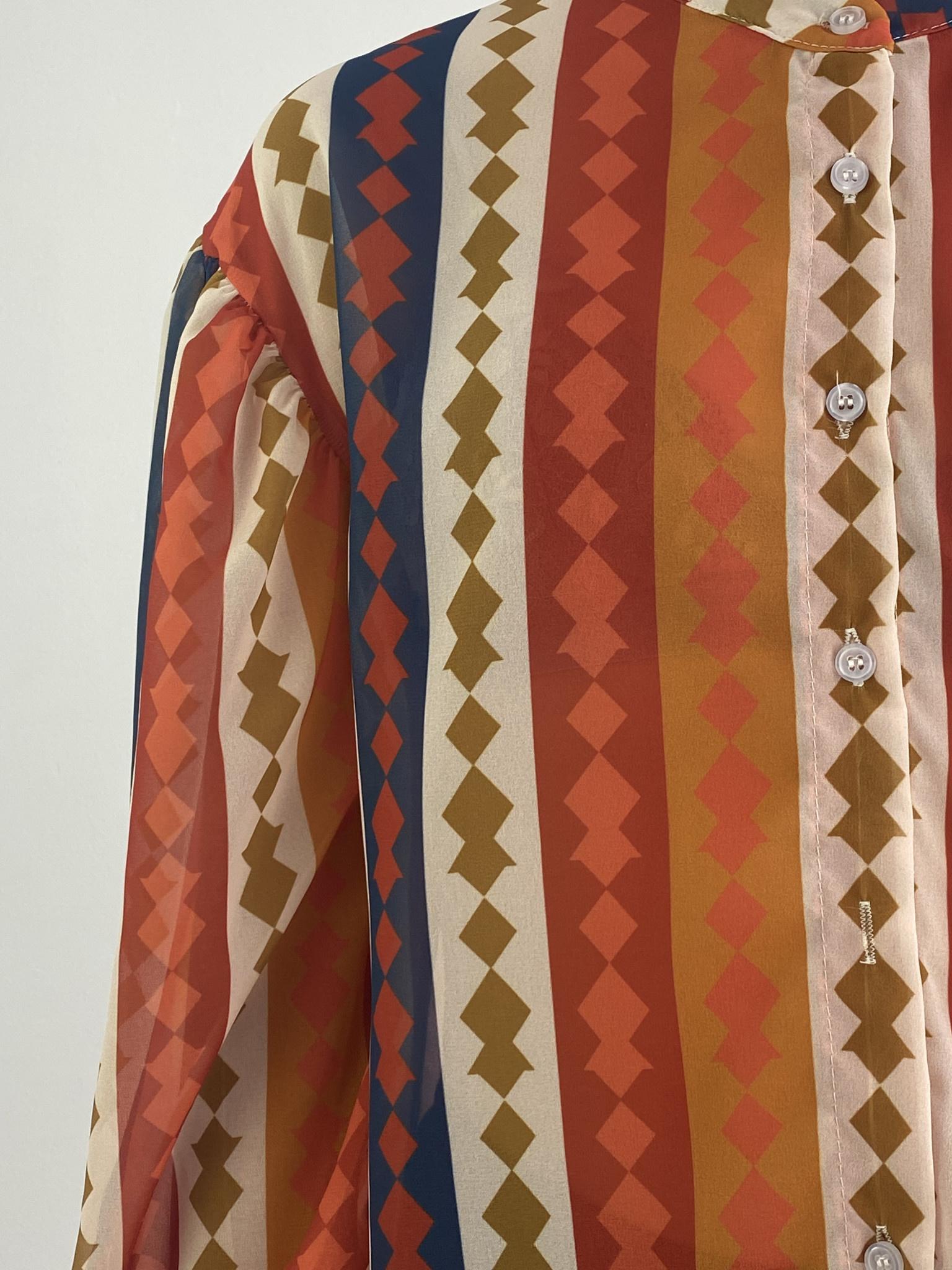 Faith ballonsleeve blouse Harlequin Orange-5