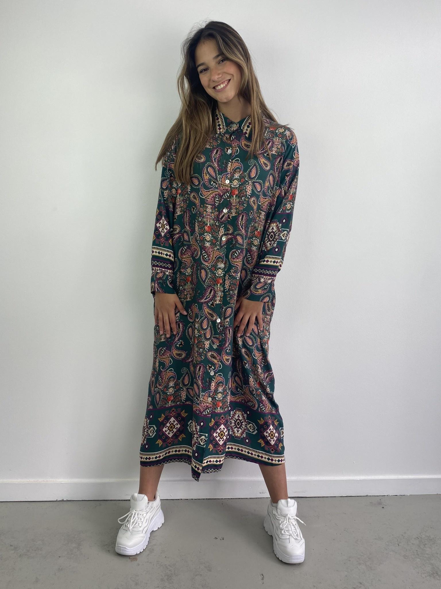 Katiya midi dress Petrol-1