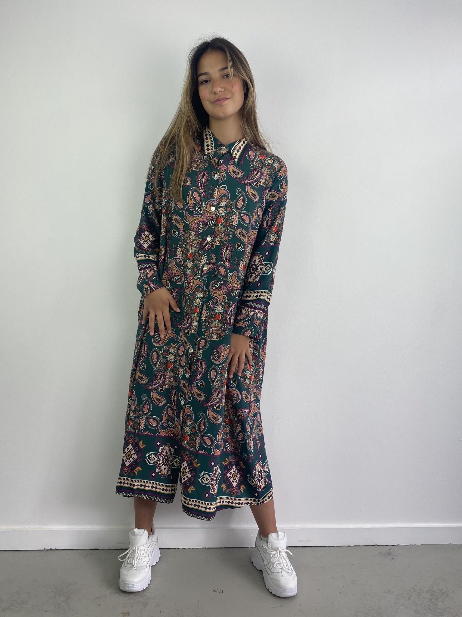 Katiya midi dress Petrol-2