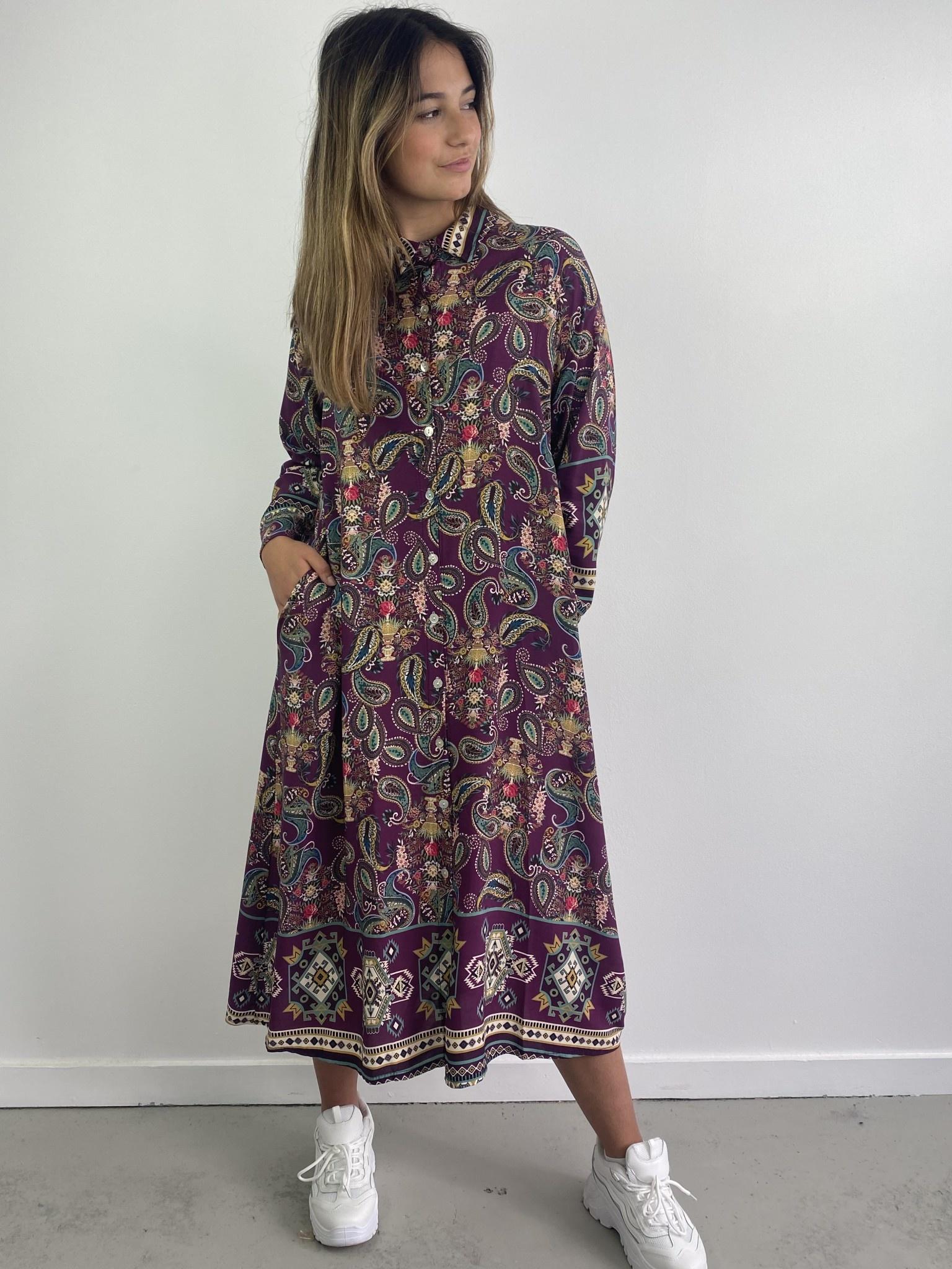 Katiya midi dress Violet-1