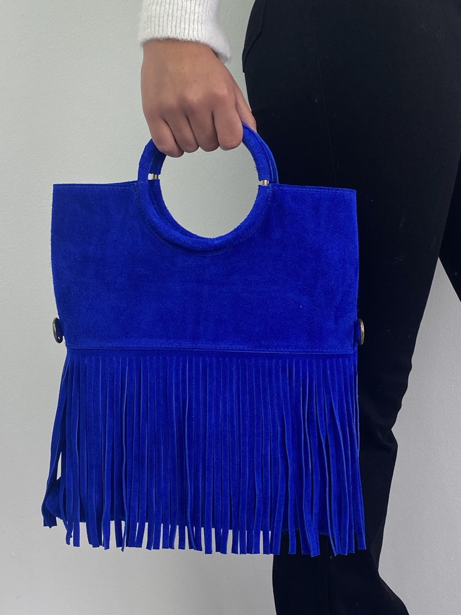 Coachella diam fringes shopper  Cobalt-1