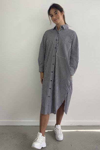 Harlow midi shirtdress Vichy Black