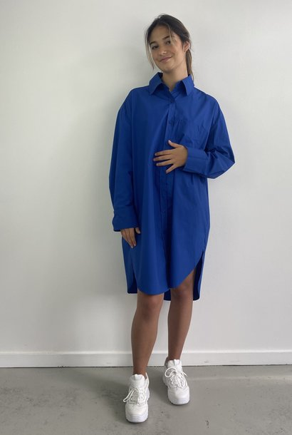 Jordell oversized shirtdress Cobalt