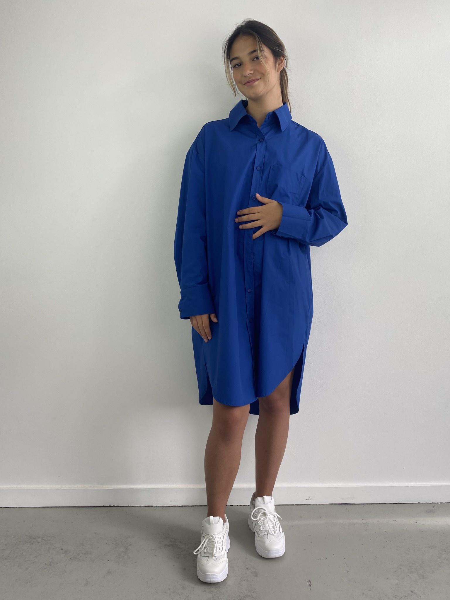Jordell oversized shirtdress Cobalt-1