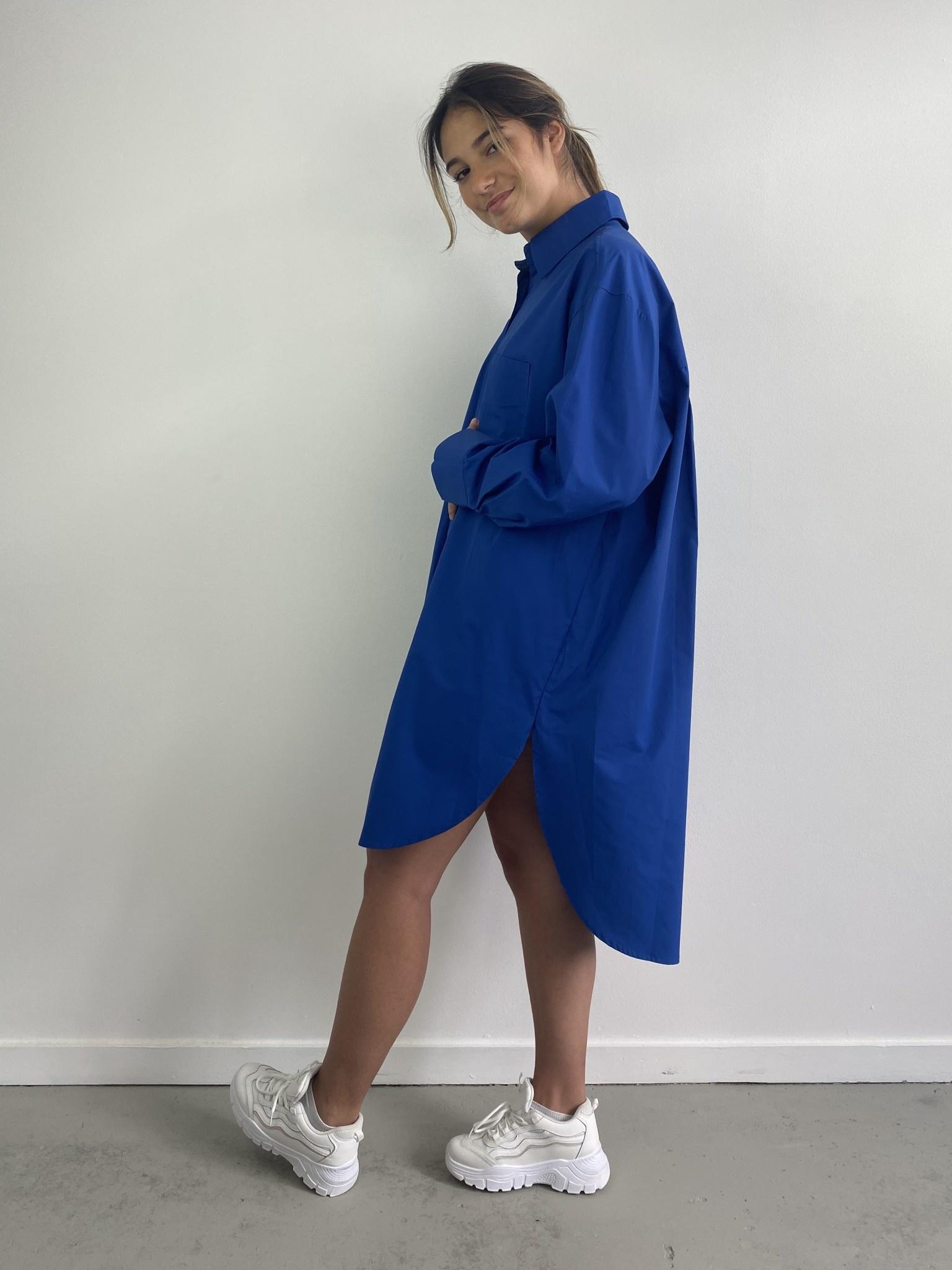 Jordell oversized shirtdress Cobalt-3