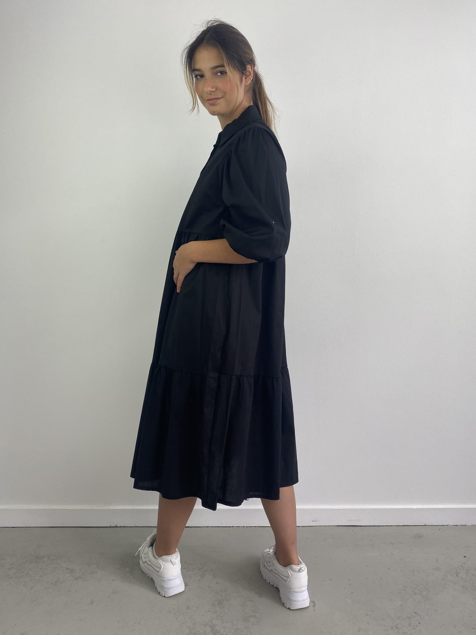 Beth urban shirtdress Black-2