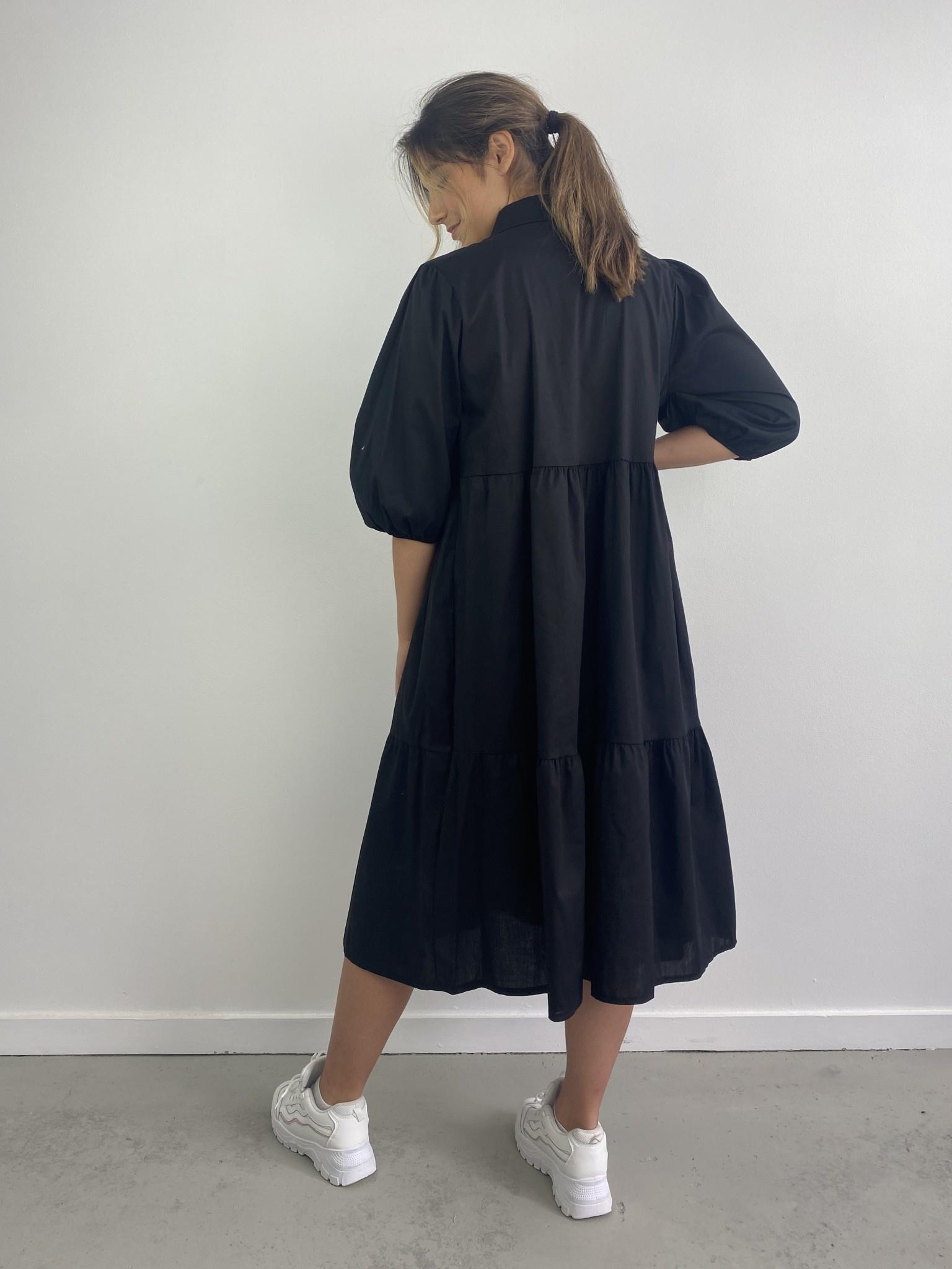 Beth urban shirtdress Black-3