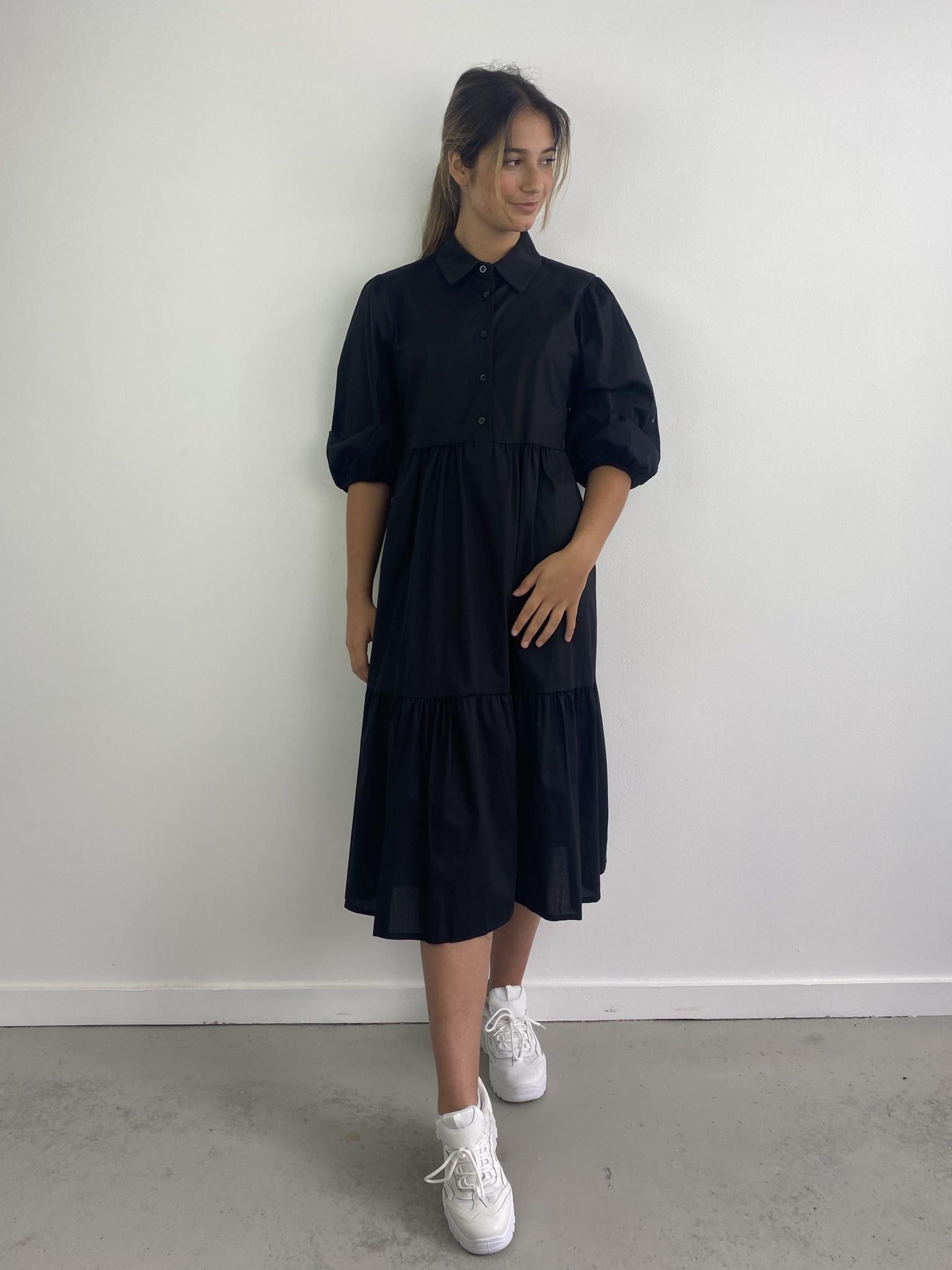 Beth urban shirtdress Black-1