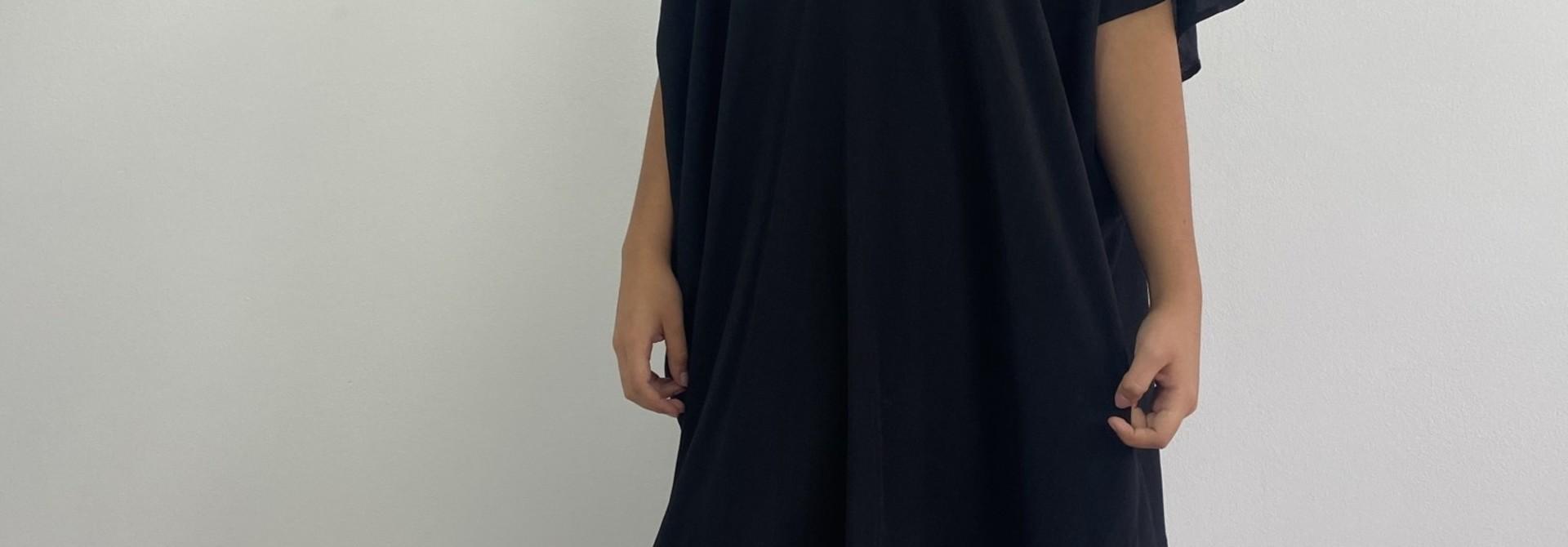 Seline tunic dress Black