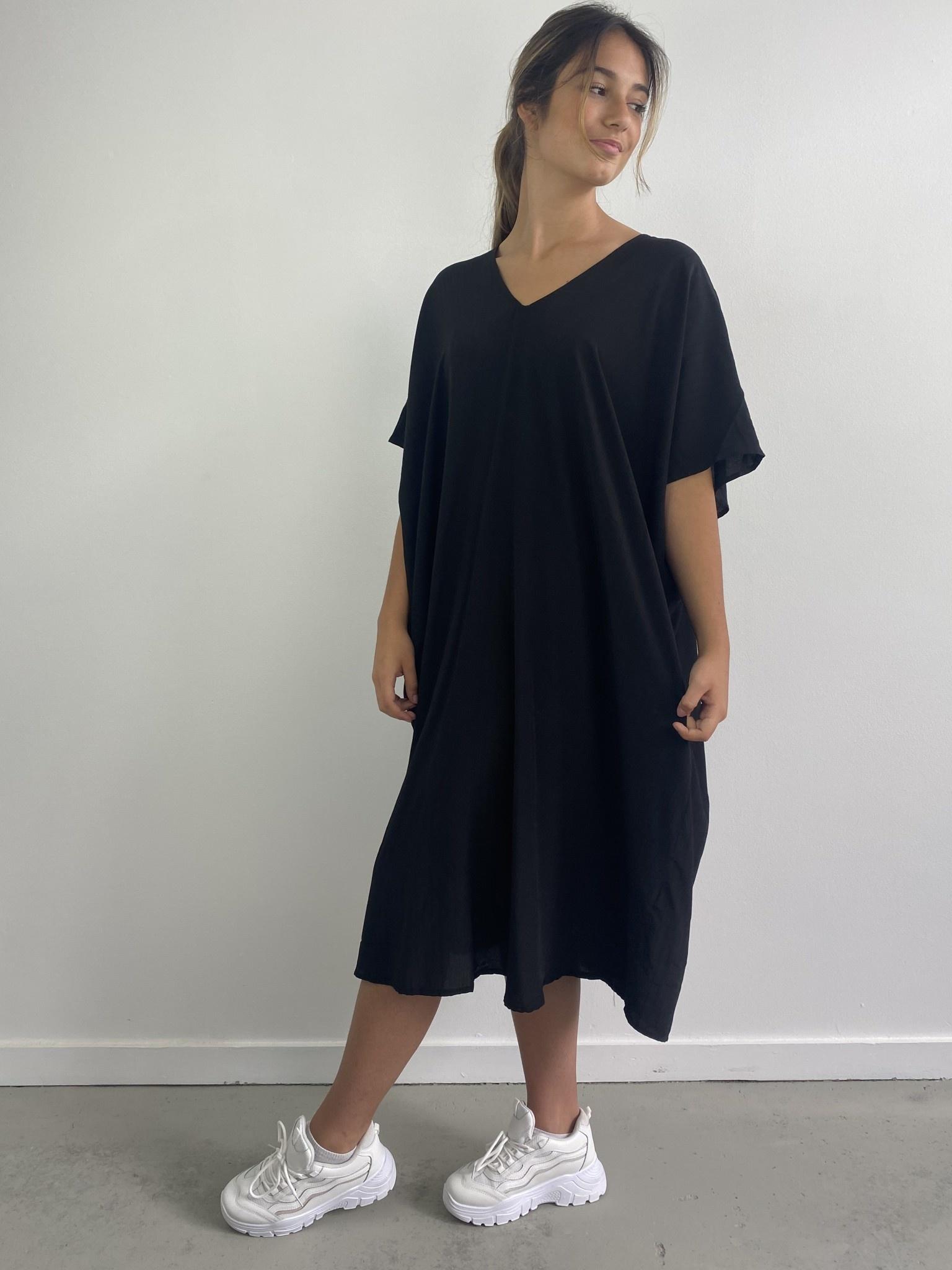Seline tunic dress Black-1