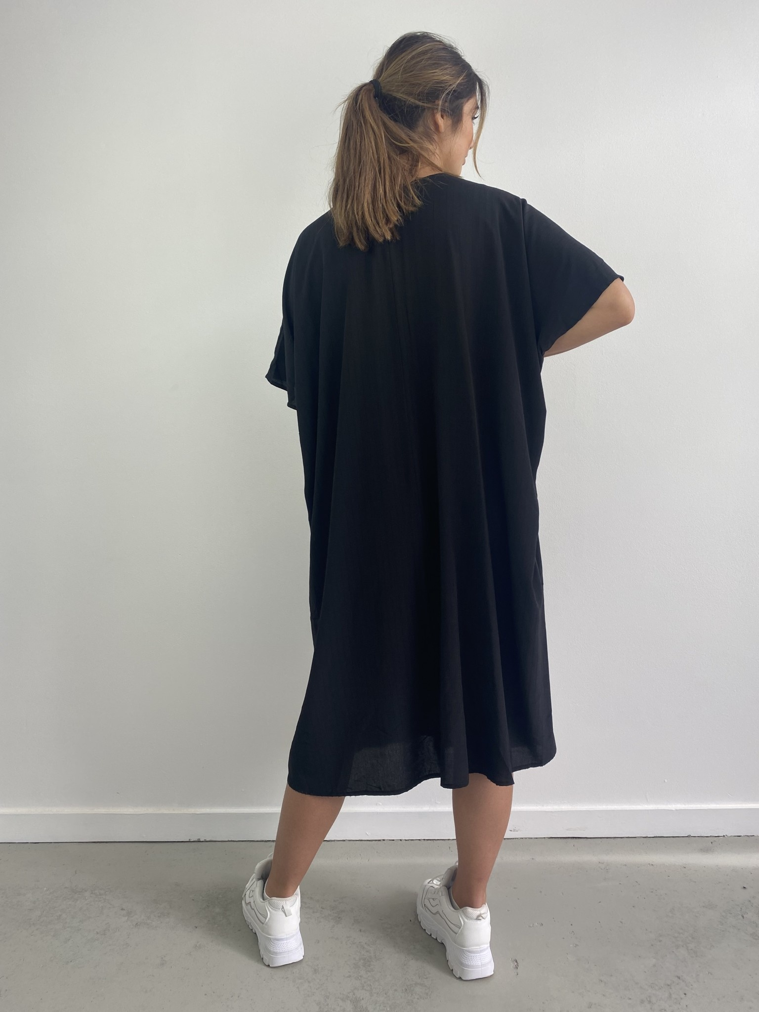 Seline tunic dress Black-2