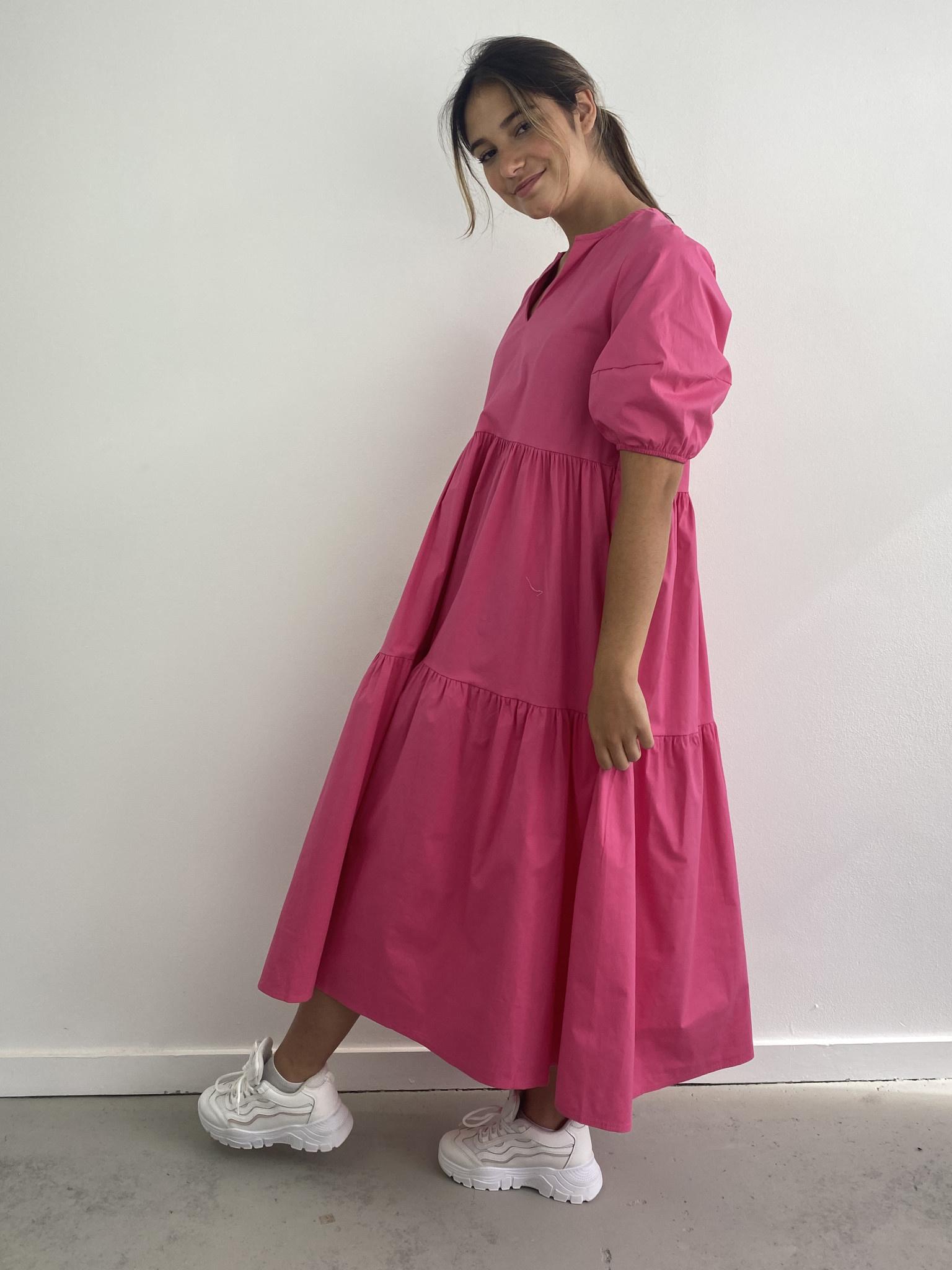 Jovie urban dress Fushia-1