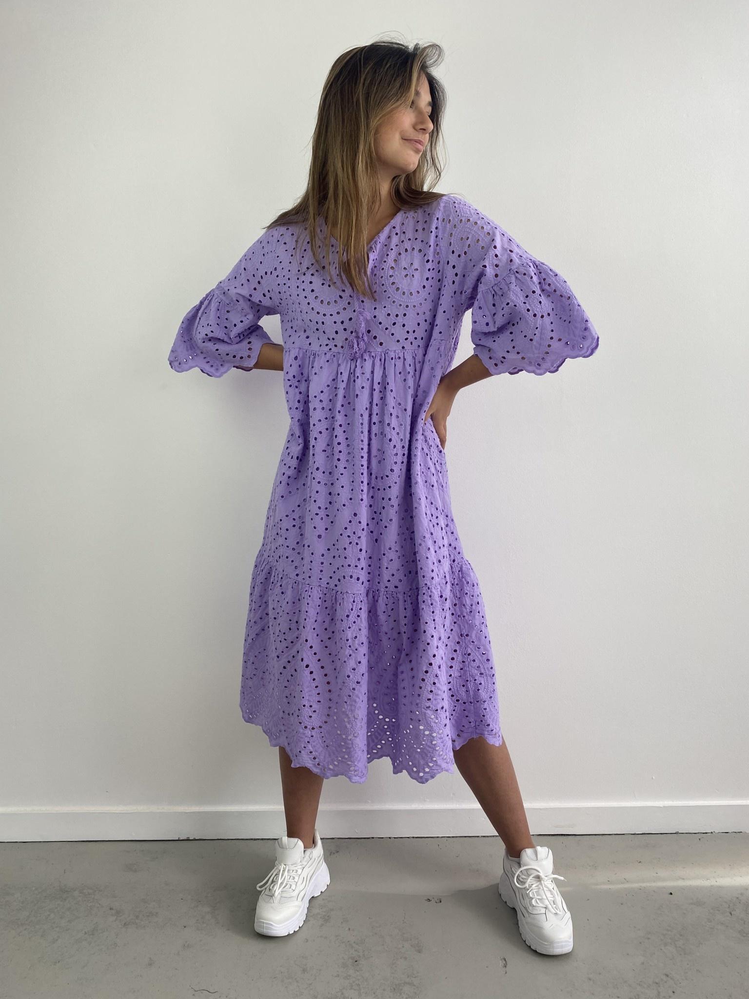 Patley broderie midi dress Lila-1