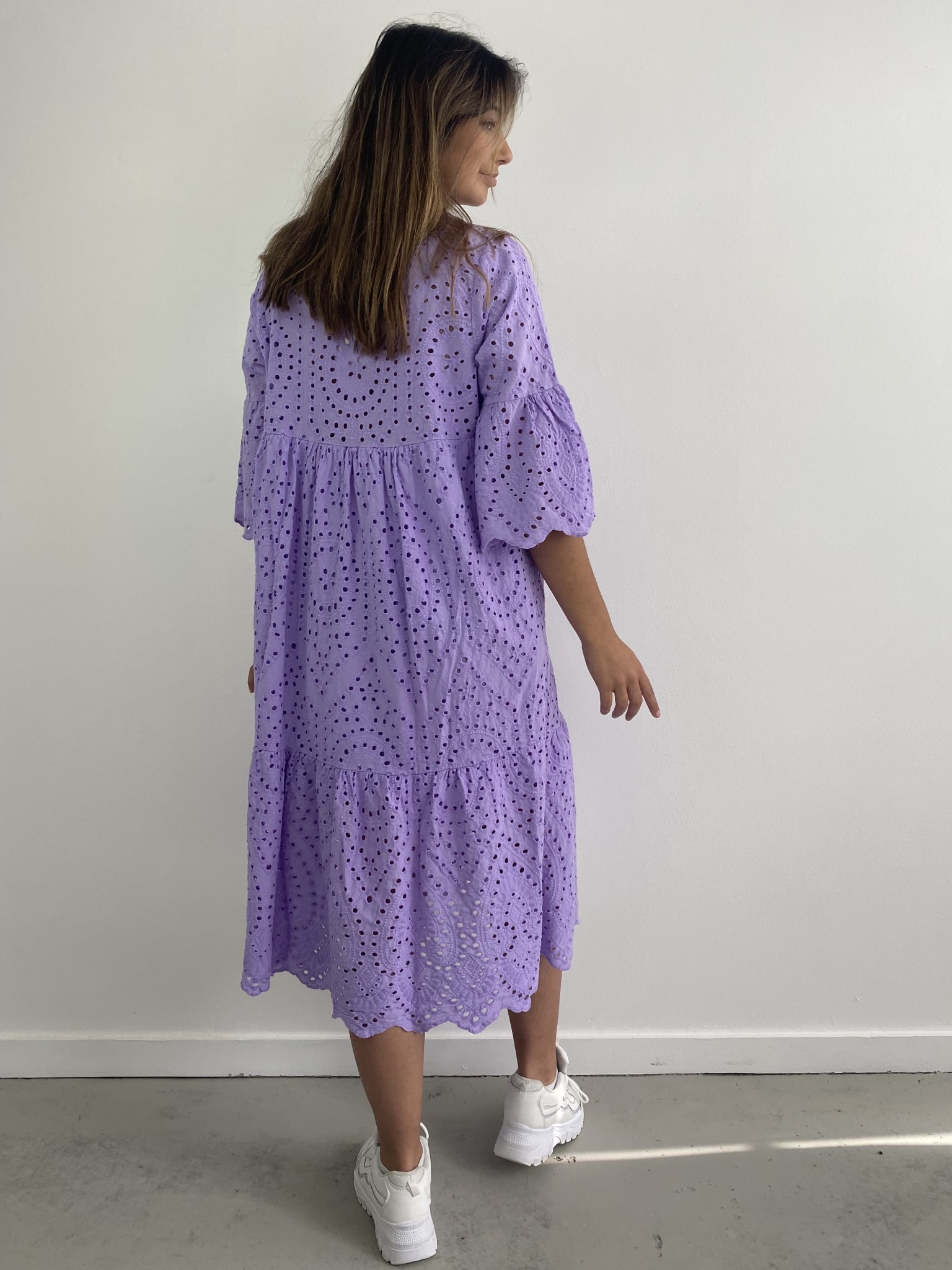 Patley broderie midi dress Lila-2