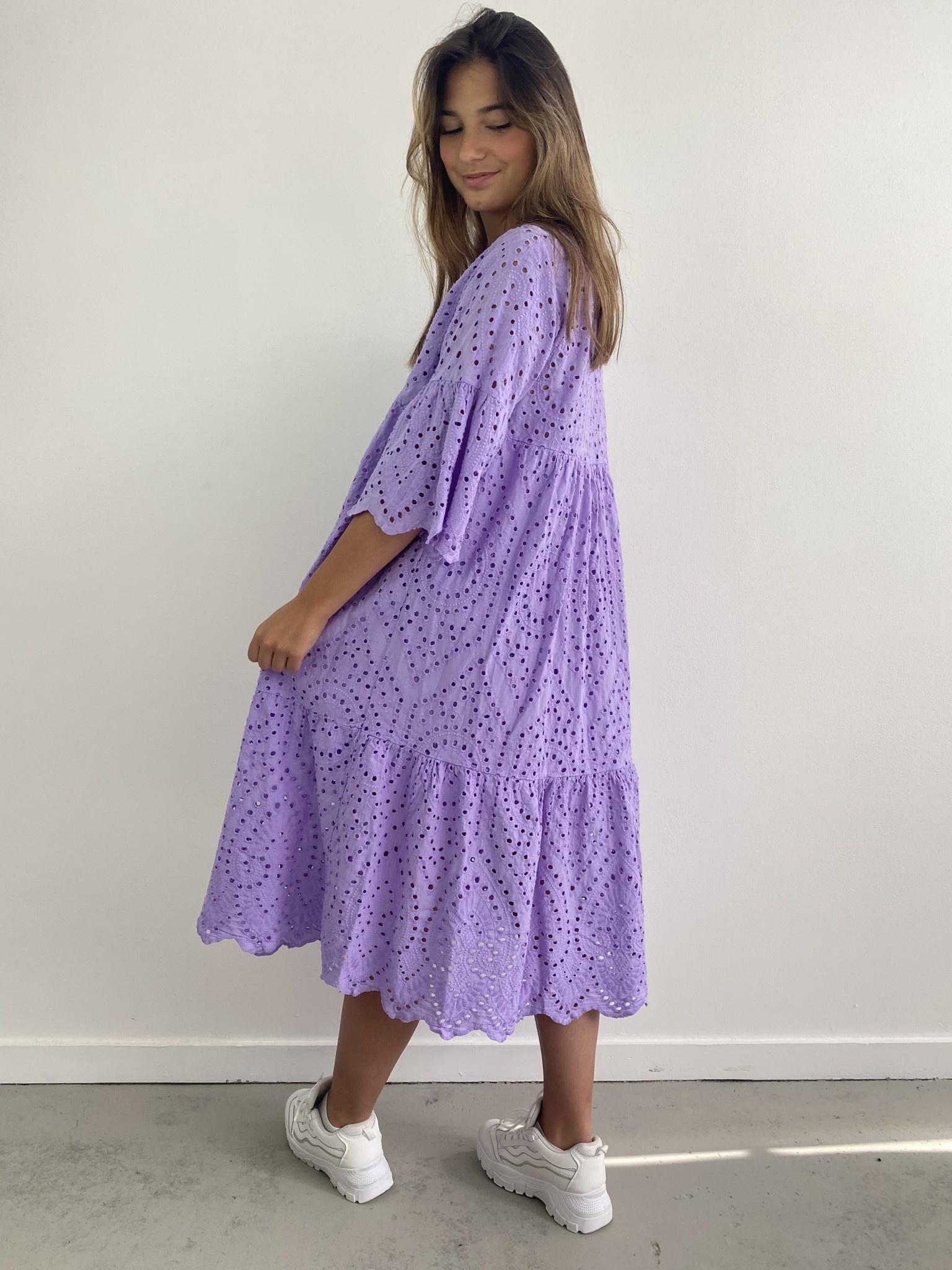 Patley broderie midi dress Lila-3