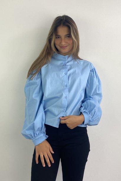 Cortenia ballonsleeve shirt Blue