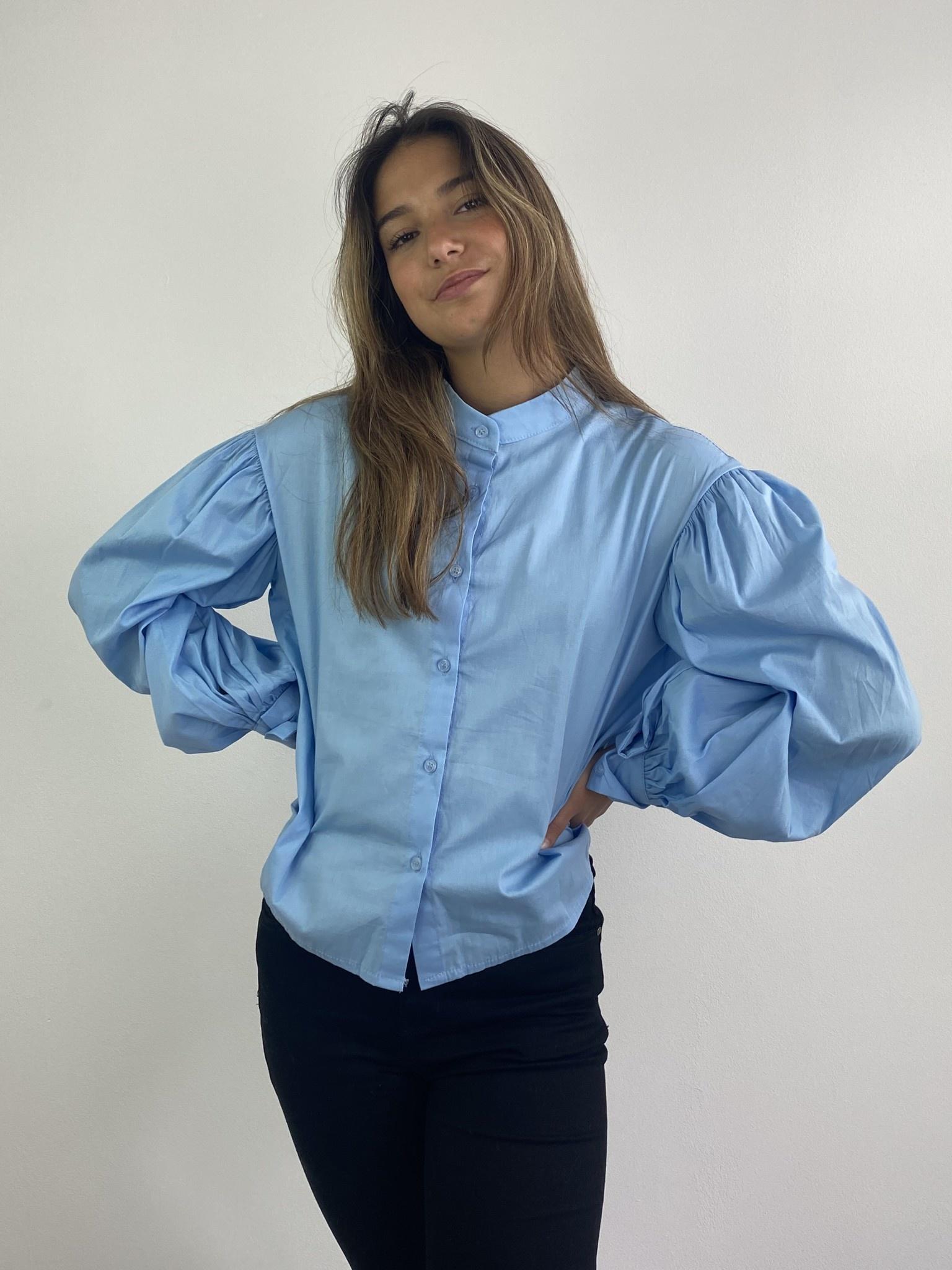 Cortenia ballonsleeve shirt Blue-2