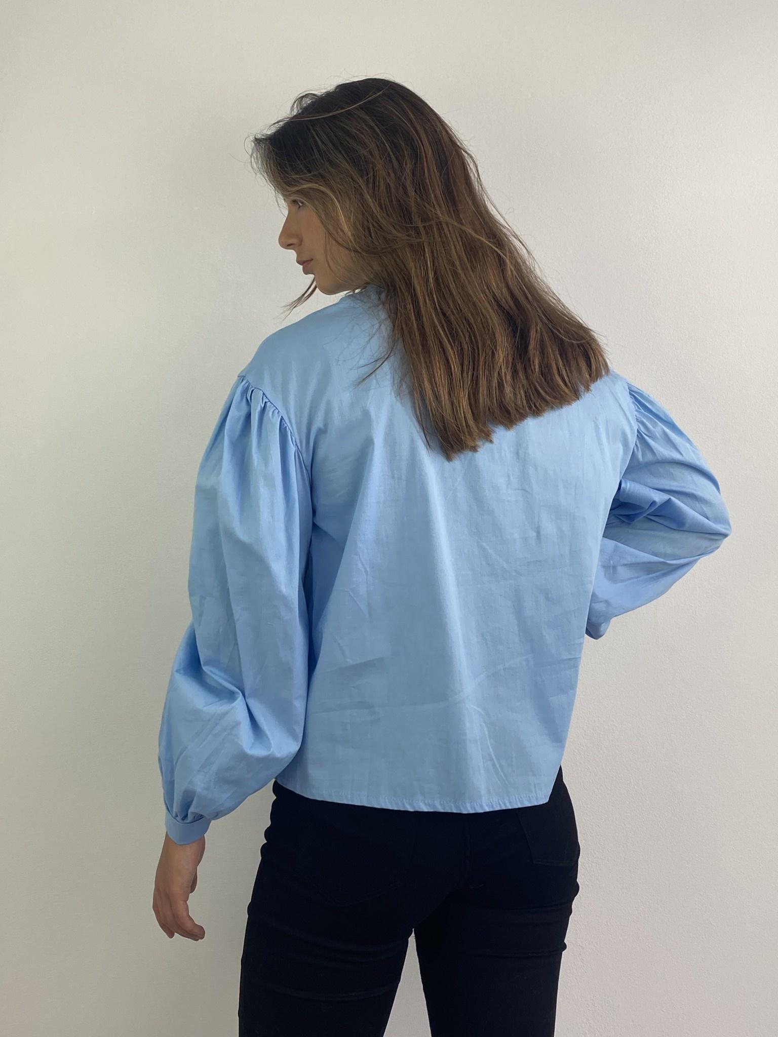 Cortenia ballonsleeve shirt Blue-4