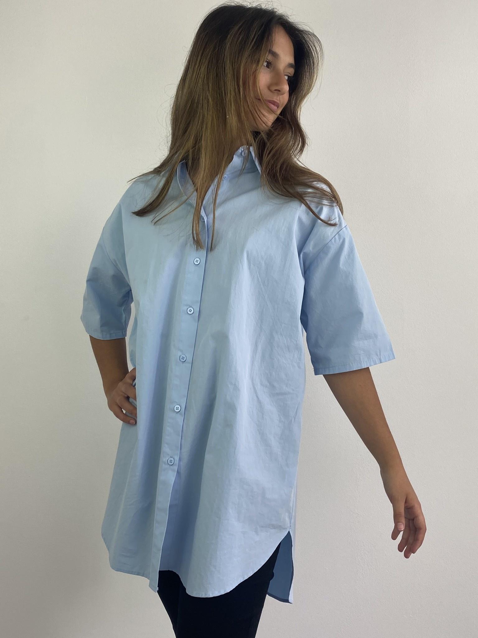 Tammy oversized shirt Light Blue-1