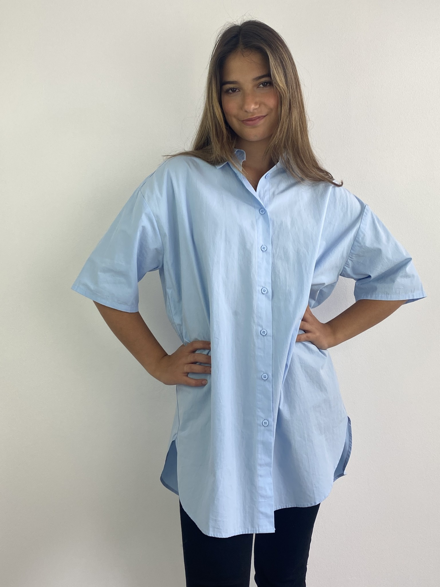 Tammy oversized shirt Light Blue-2