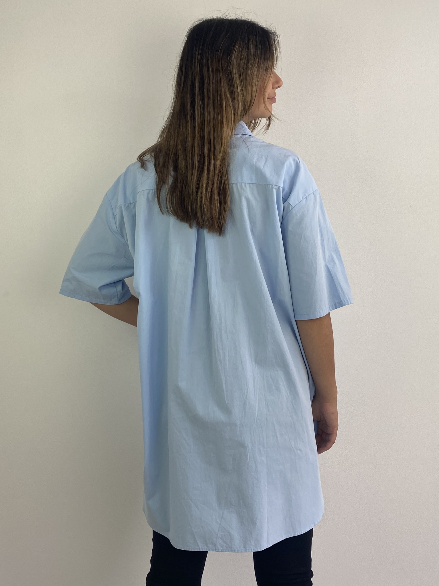 Tammy oversized shirt Light Blue-3