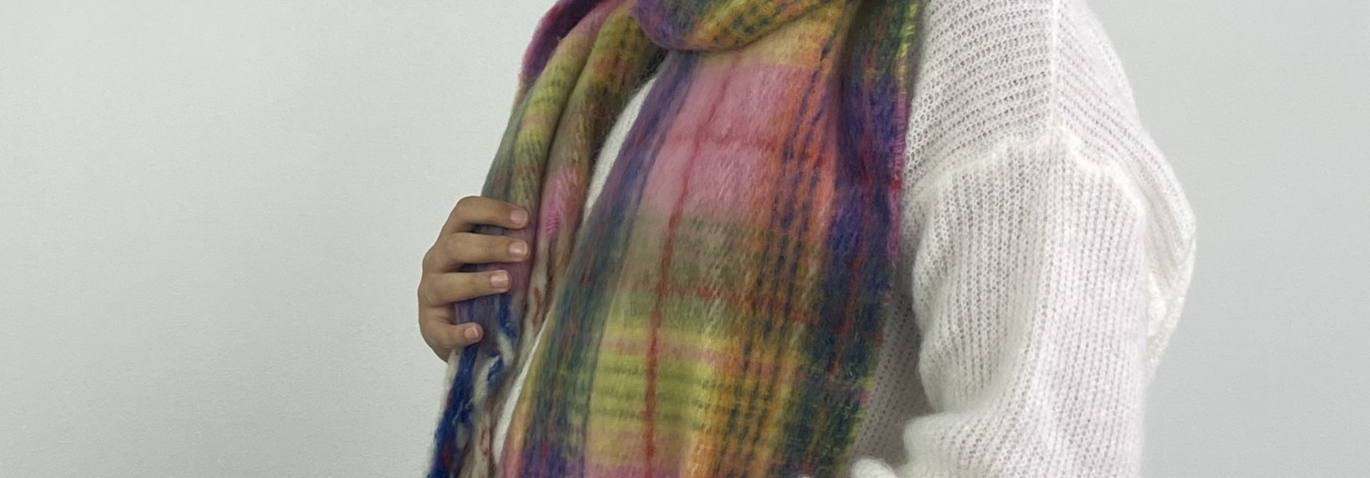 Willow checkered scarf Pink
