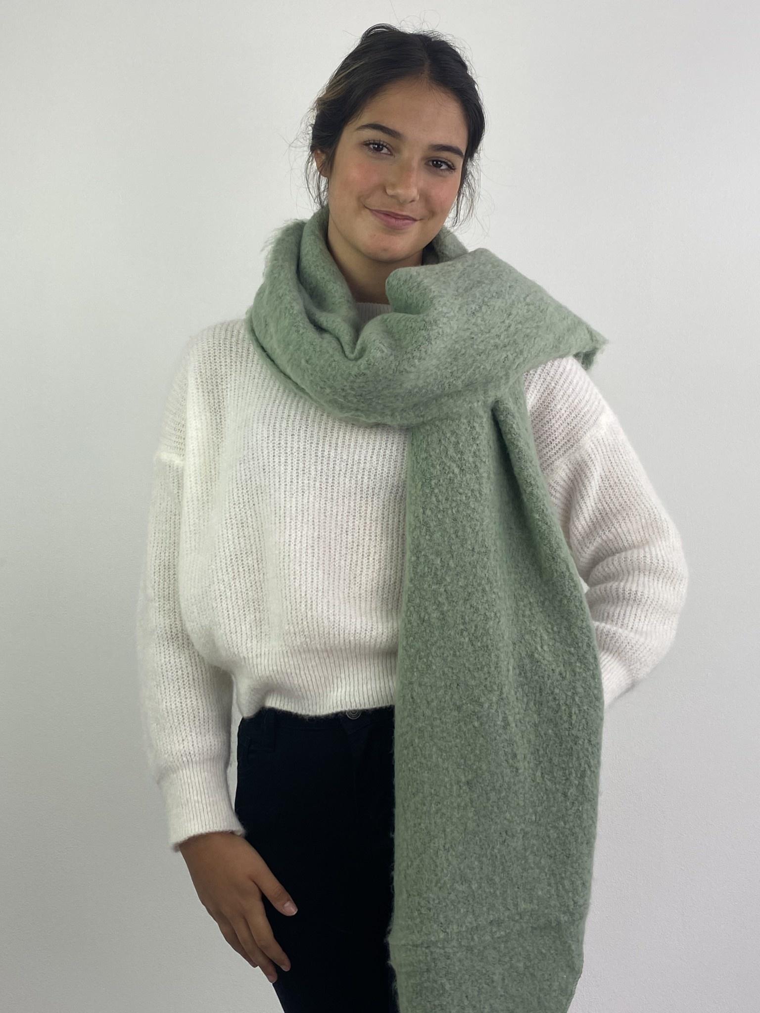 Ülka essential scarf Powder Green-1