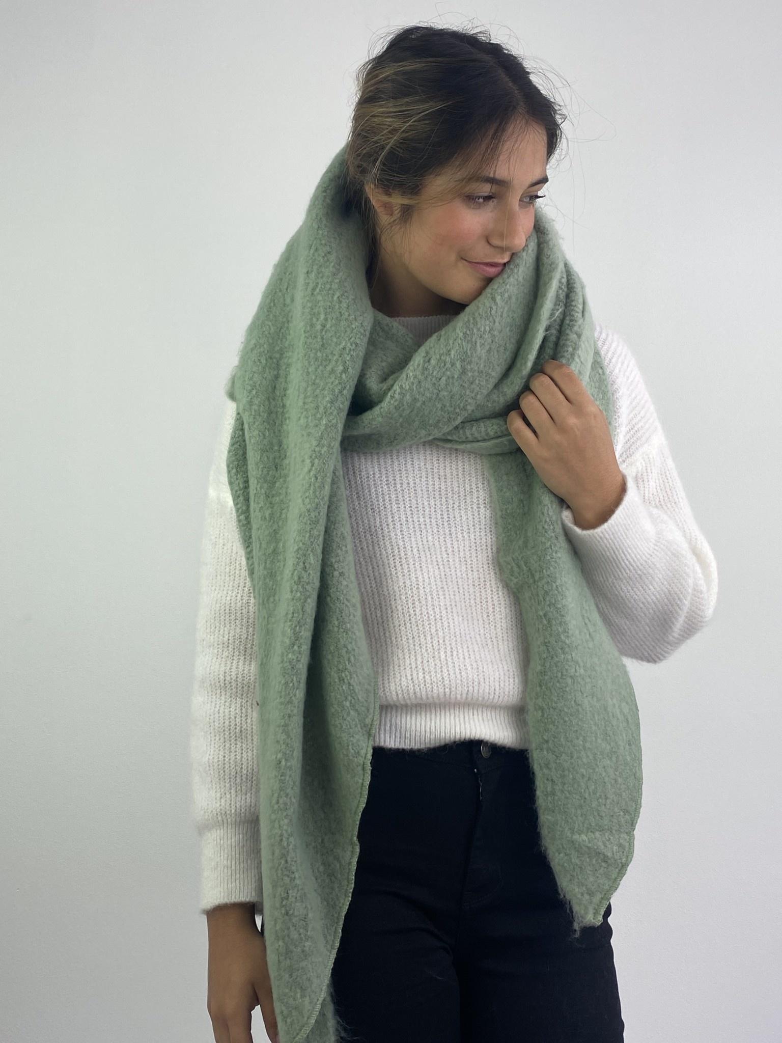 Ülka essential scarf Powder Green-2