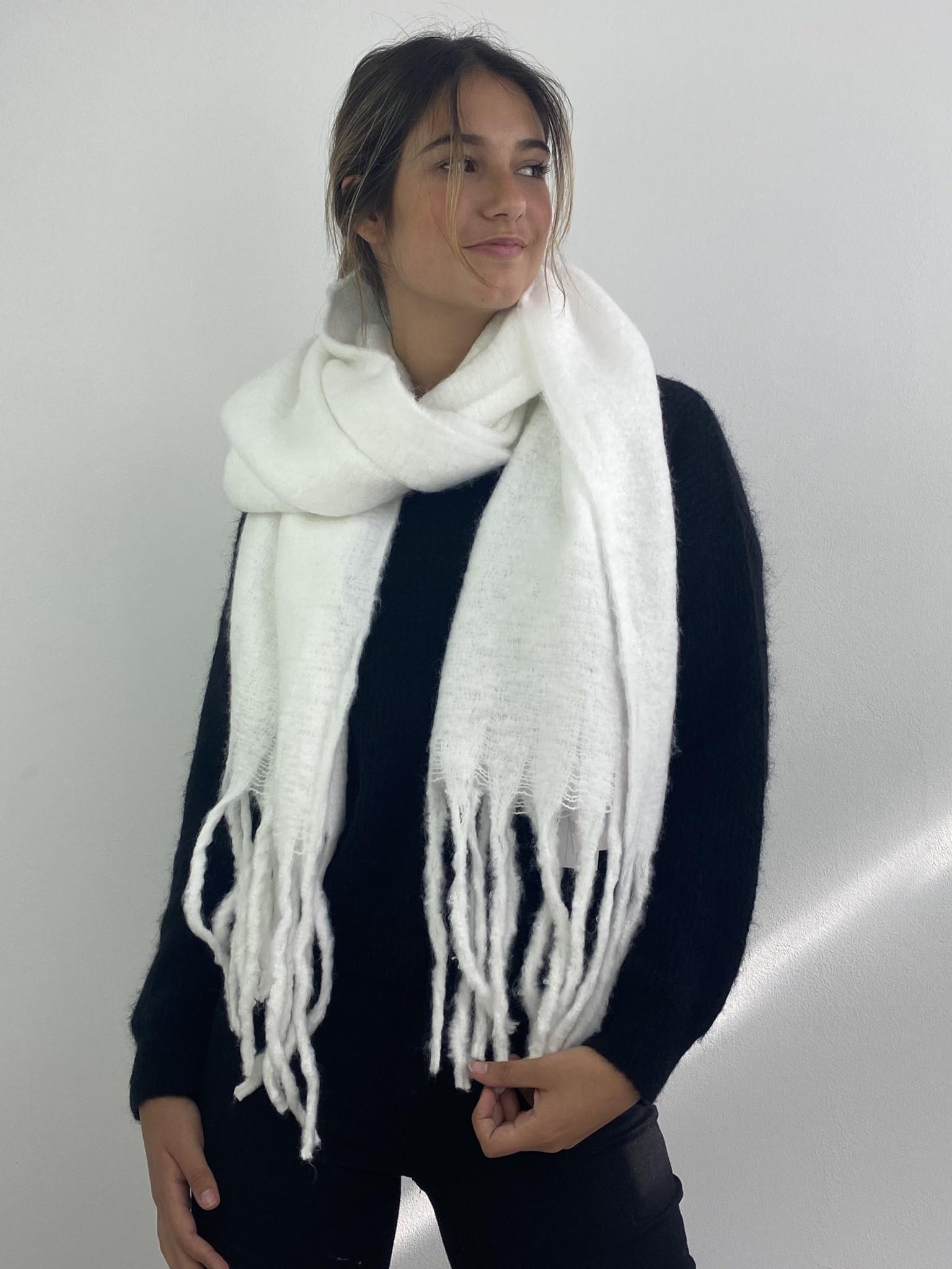 Hondu essential scarf  White-2