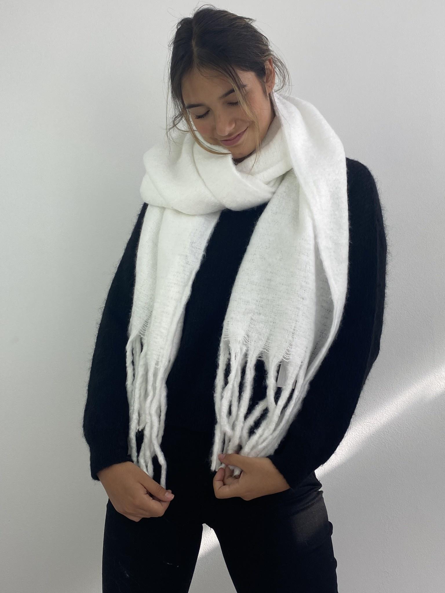 Hondu essential scarf  White-1