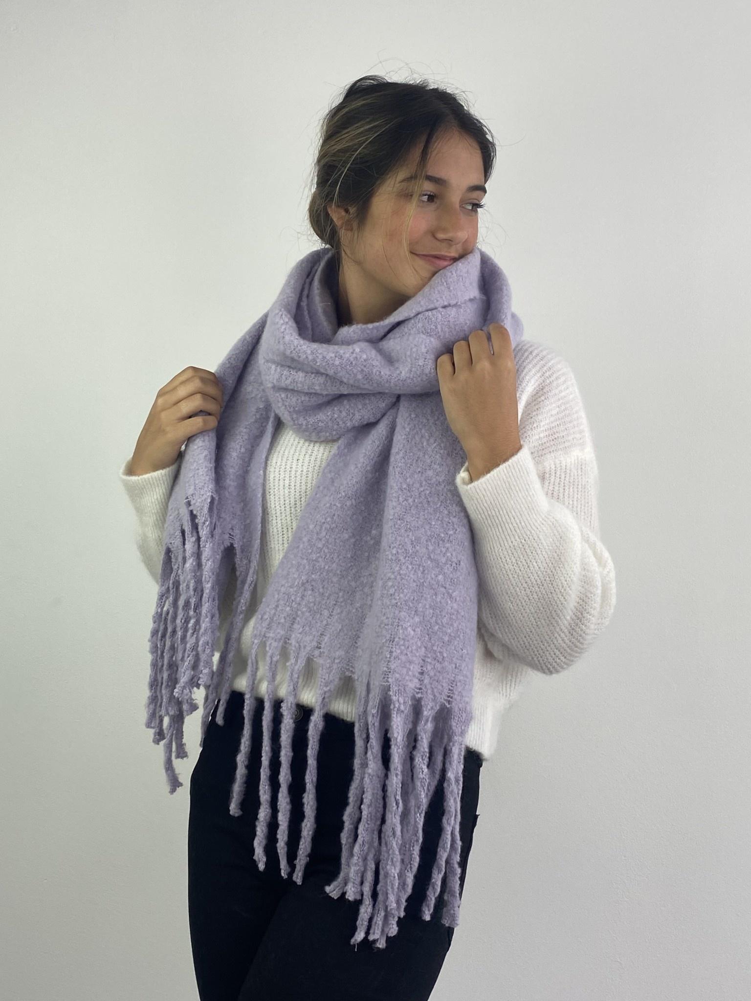 Hondu essential scarf Powder Lila-1