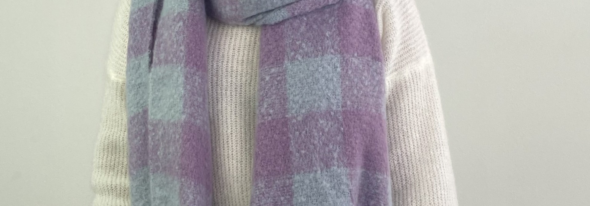 Parker checkered scarf Lila