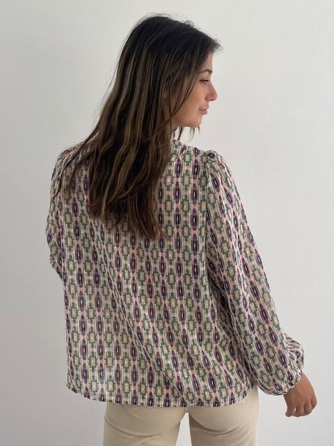 Ashley bohemain blouse Green-5
