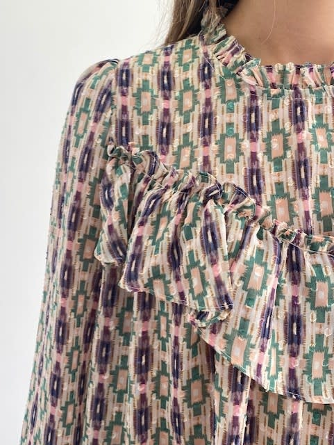 Ashley bohemain blouse Green-3