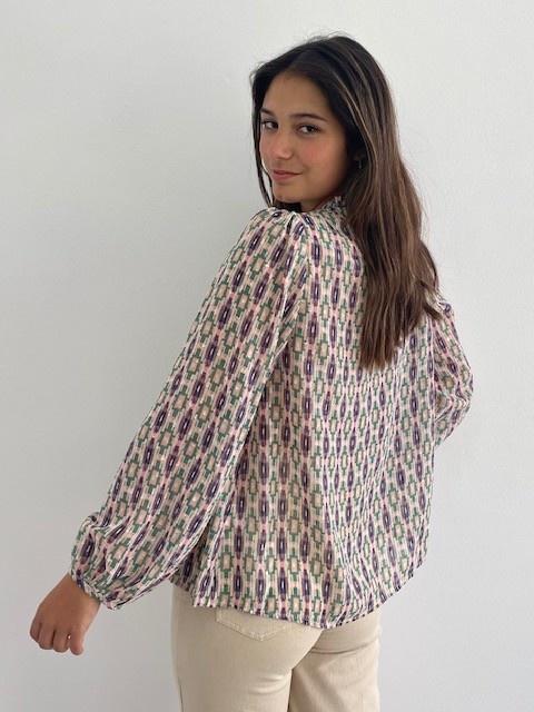 Ashley bohemain blouse Green-2