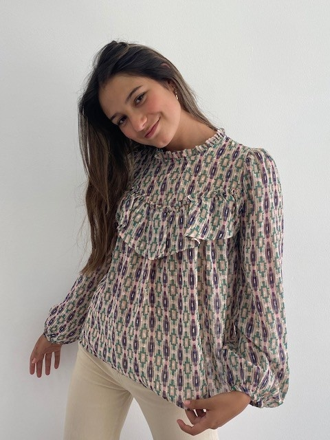 Ashley bohemain blouse Green-4