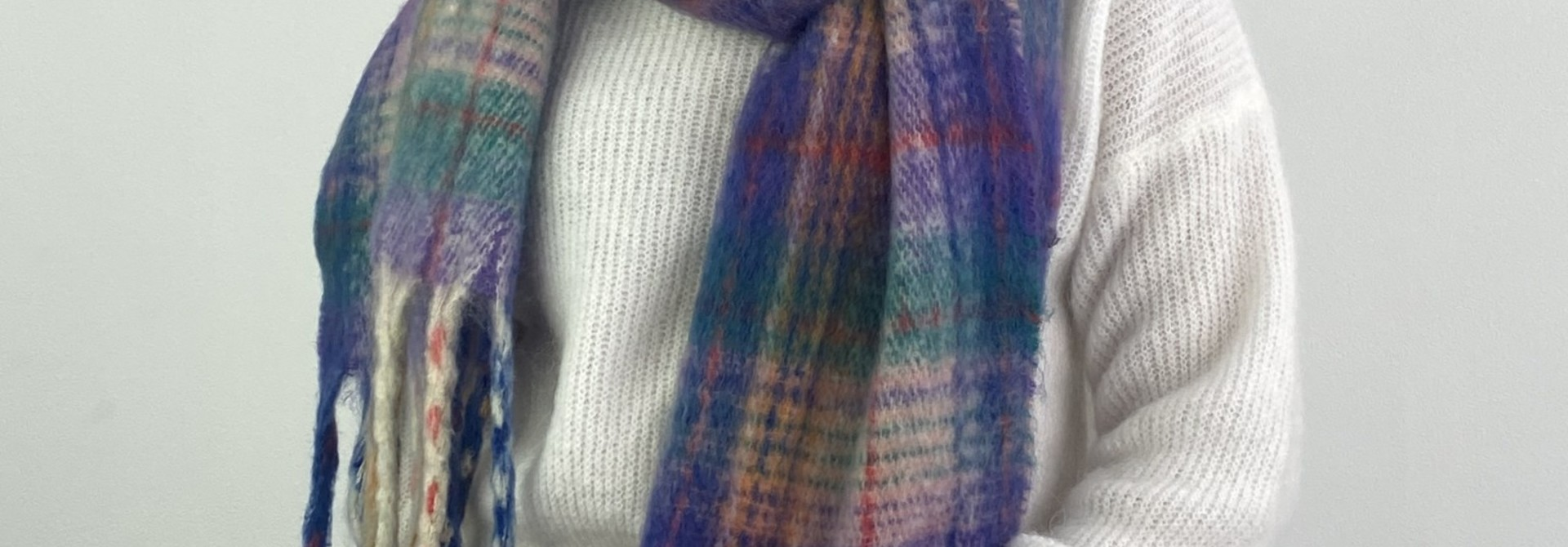 Willow checkered scarf Lila