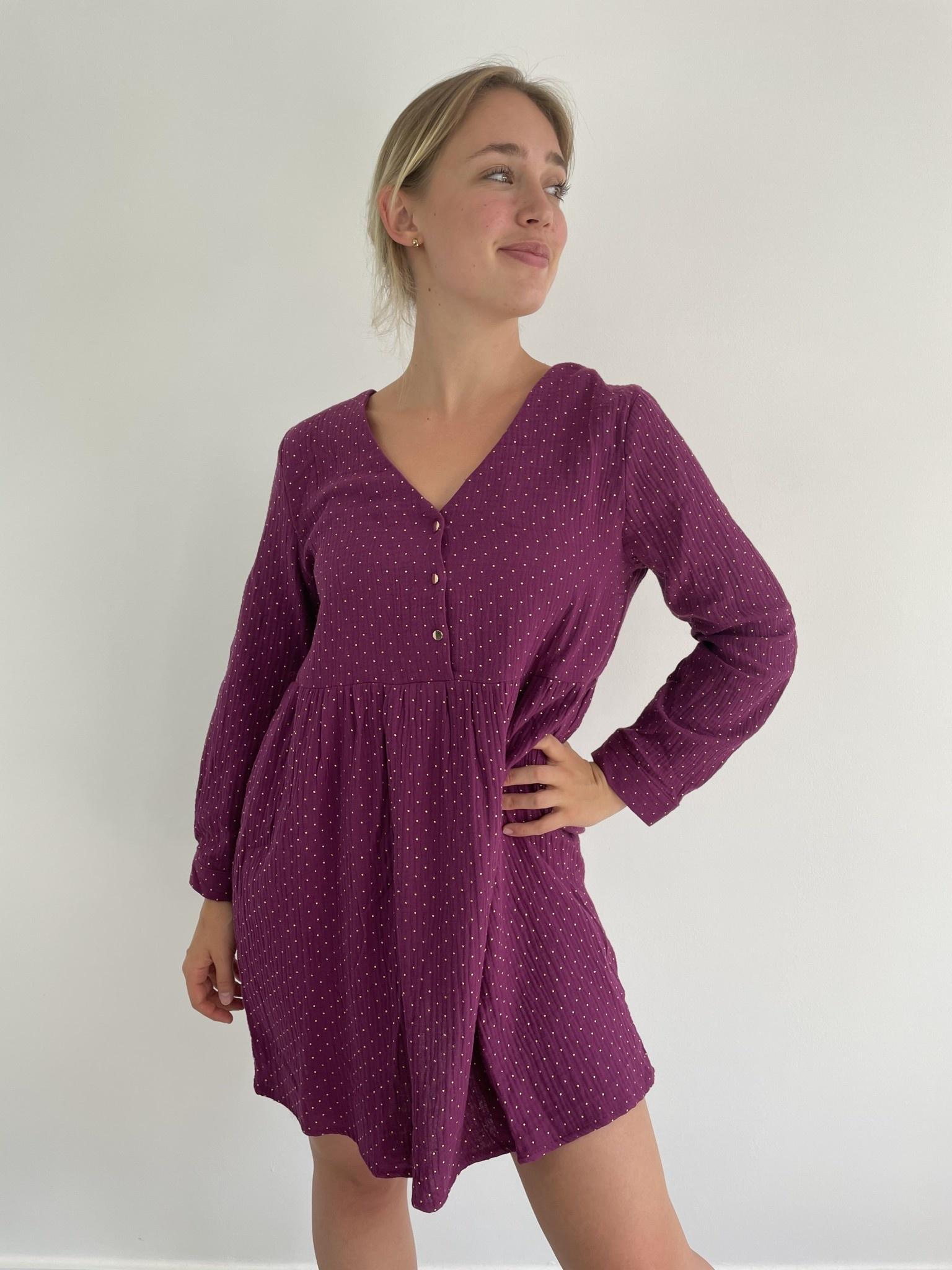 Misha tetra dress Purple-1