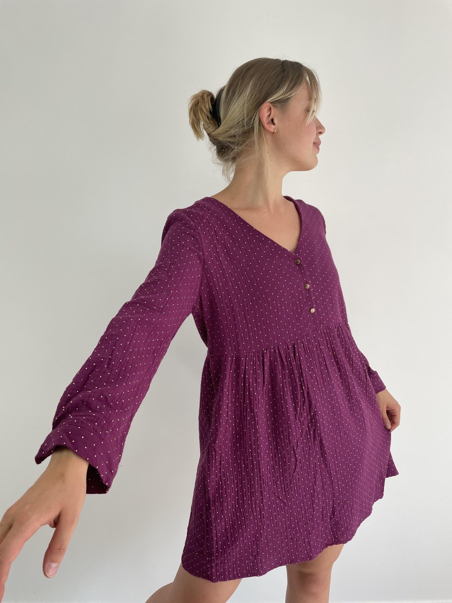 Misha tetra dress Purple-2