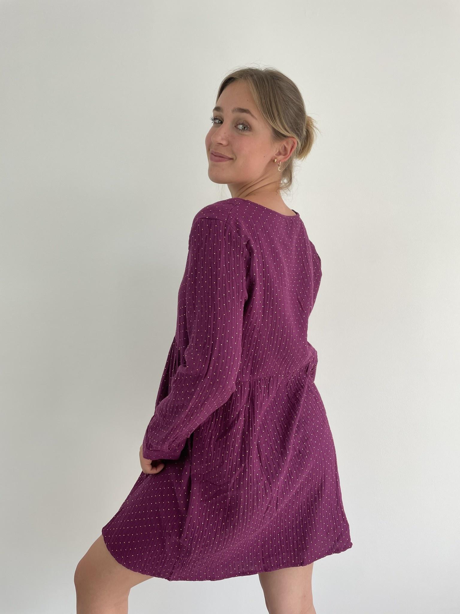 Misha tetra dress Purple-3