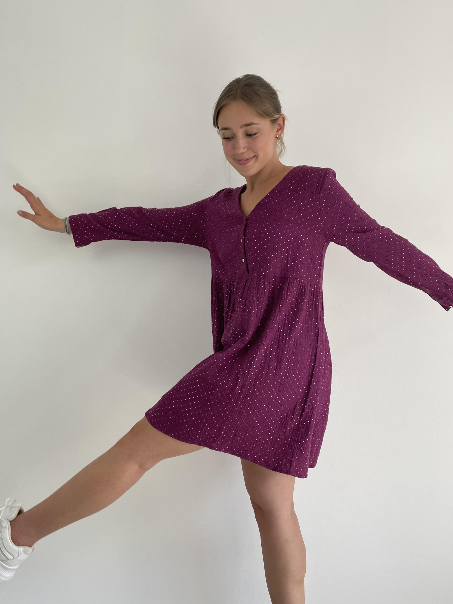 Misha tetra dress Purple-4