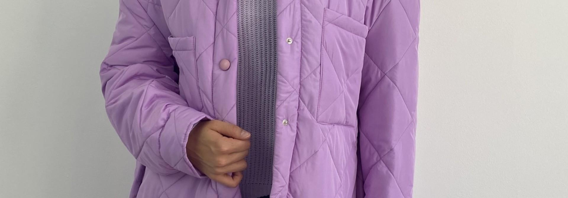Hula matelasse jacket Lila